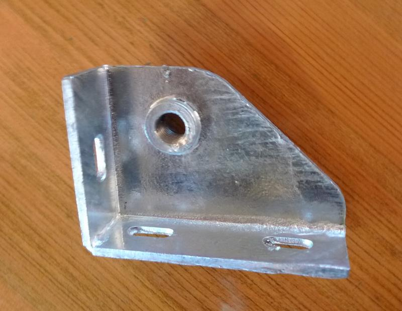 Seatbelt Mounting Bracket LH Galvanized 345101 Land Rover Series 2A//3 /& Defender