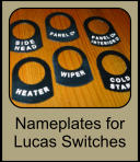 nameplates for lucas switches